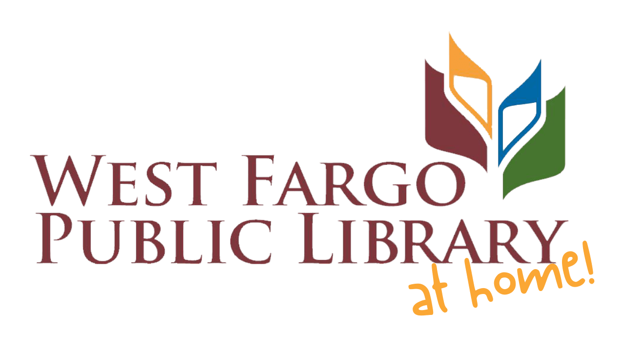 West Fargo Public Library at Home Logo Color